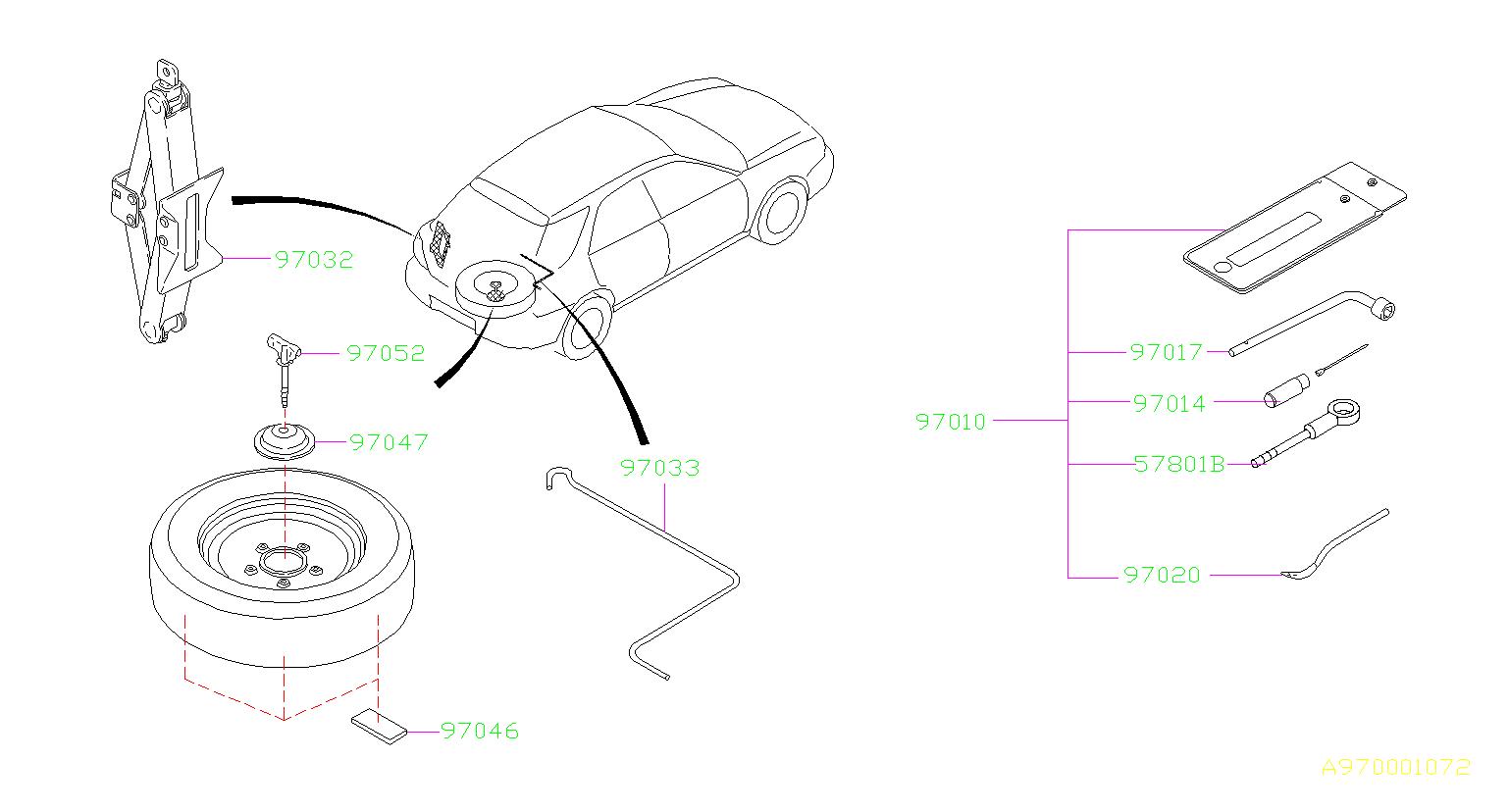 Subaru Wrx Tool Kit Jack