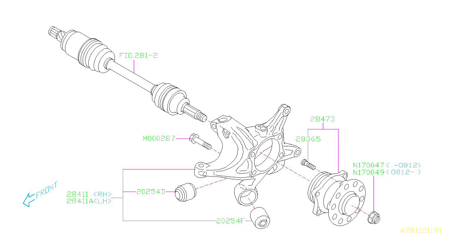 Subaru Outback Rear Suspension Schematics