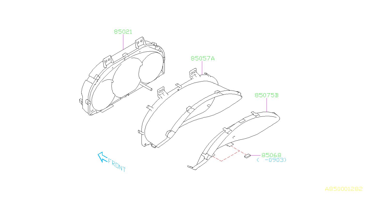 Subaru Forester Meter Main Cluster