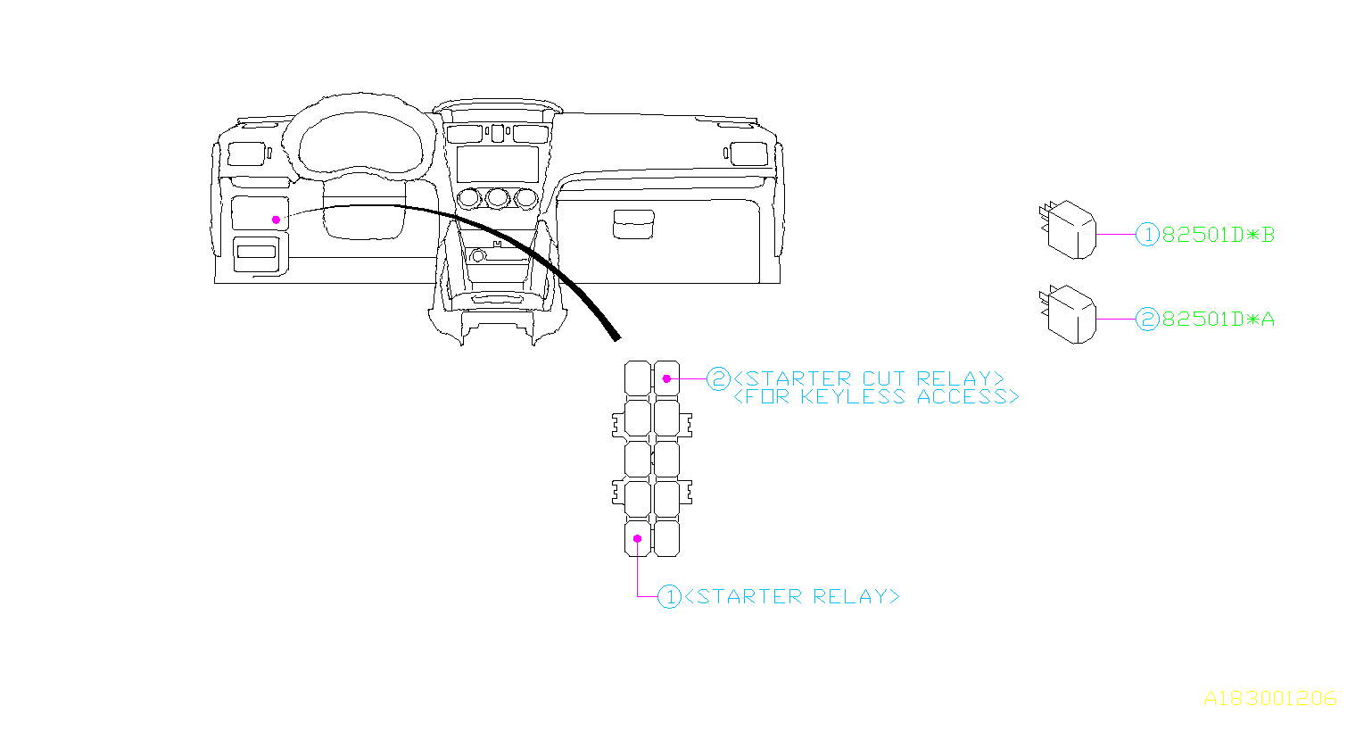 Subaru Relay Electrical Body Control
