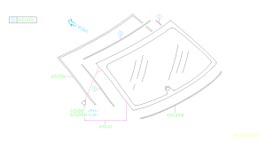 65158FJ000  Molding assemblyrear window Interior  Genuine Subaru Part