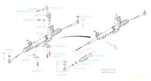 34141AC0109E  Tie rod end assembly Steering, box, gear  Genuine Subaru Part