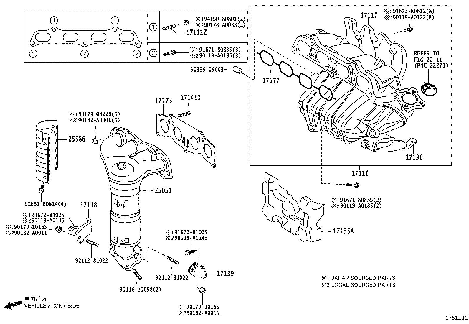 Toyota Camry Stay Manifold Exhaust Engine