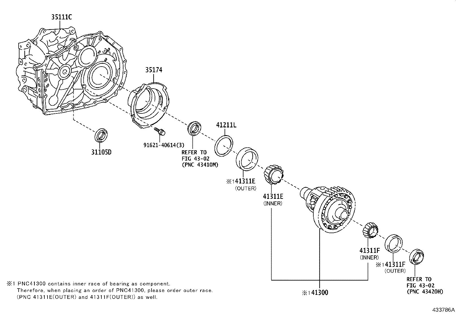 Toyota Camry Housing Transaxle Brakes Differential