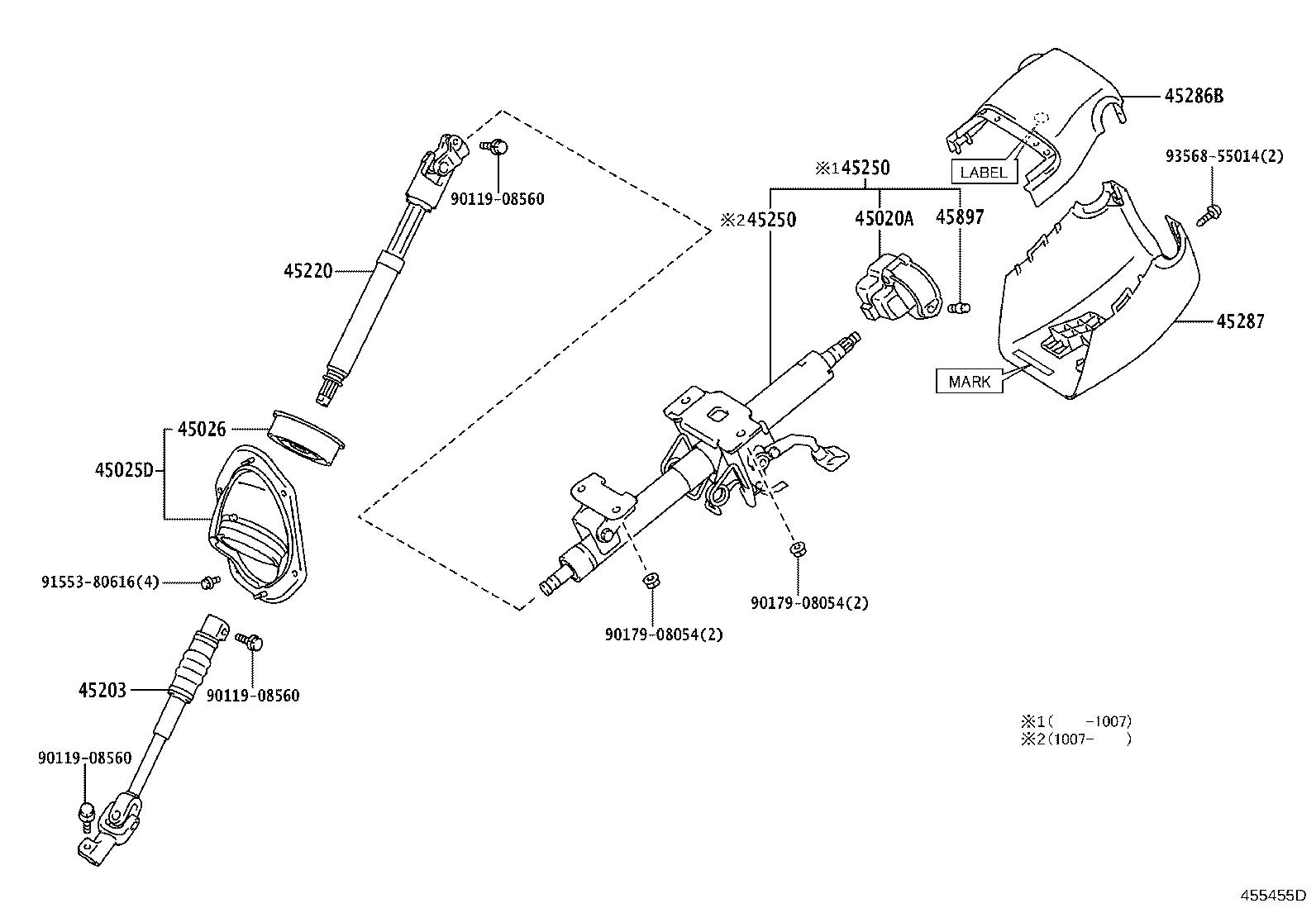 Toyota 4runner Steering Column Suspension Brakes