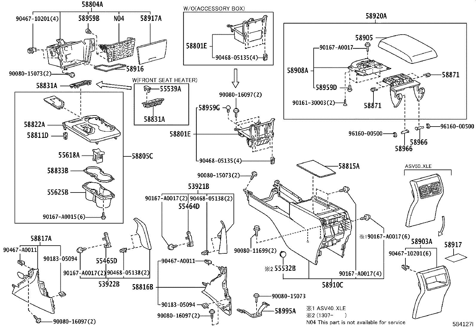 Toyota Camry Console Trim Panel Front