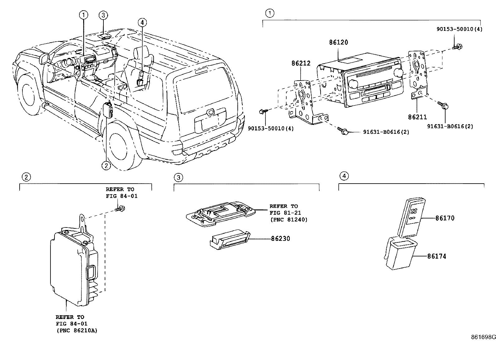 Toyota 4runner Controller Assembly Stereo Component