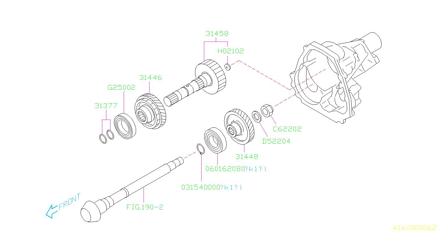 Subaru Legacy Gear Reduction Drive Gear Rdcn Drive M