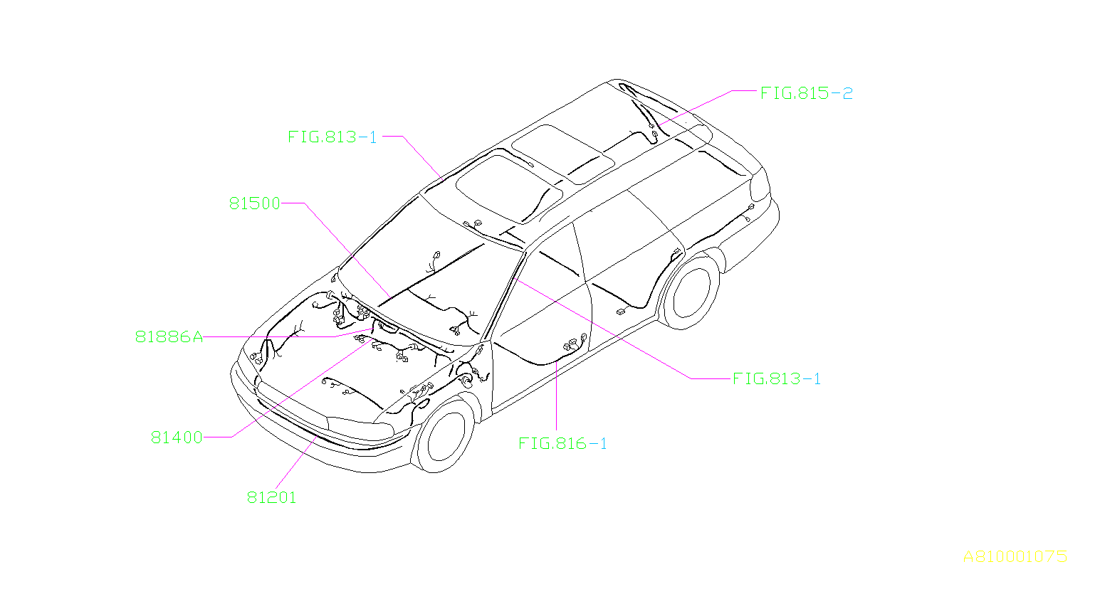 Subaru Legacy Harness Front Left Main Wiring Lamp Fog