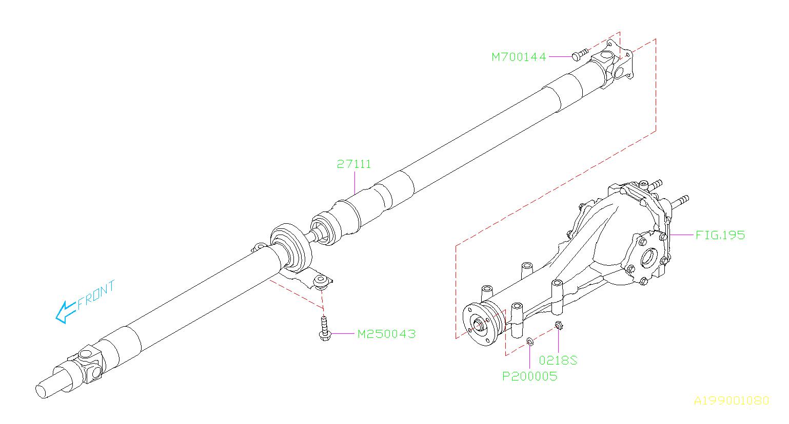 Subaru Legacy Bolt No Pattern Shaft Propeller