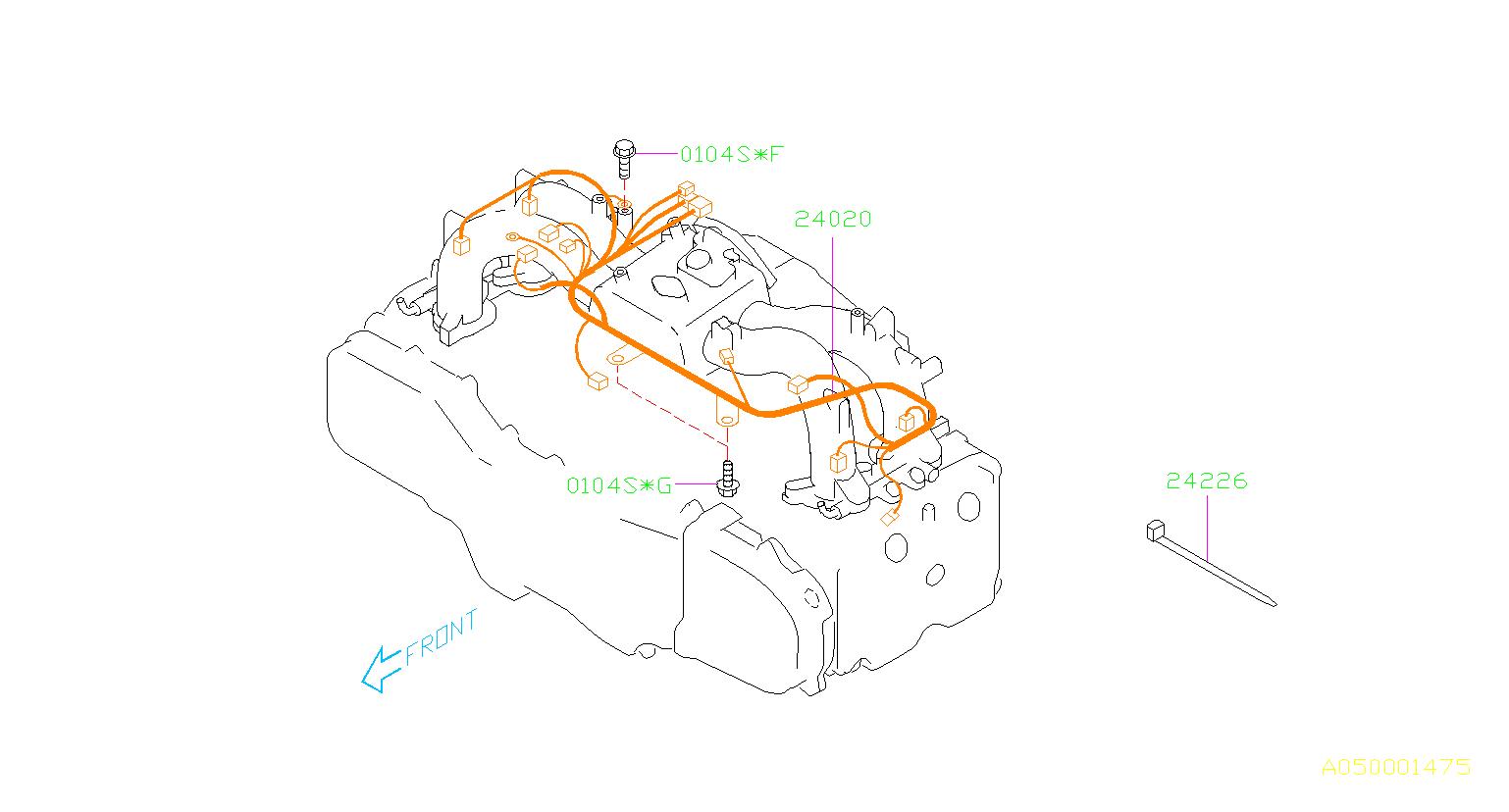 Subaru Impreza Harness Engine Wiring Manifold Intake