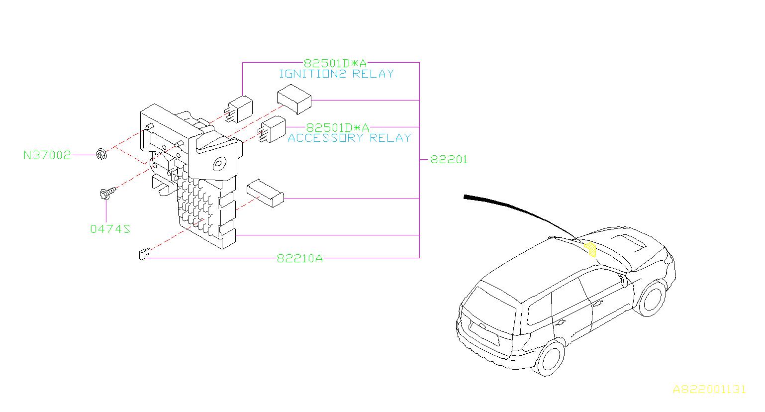 Subaru Forester Fuse Auto Box Main Wiring