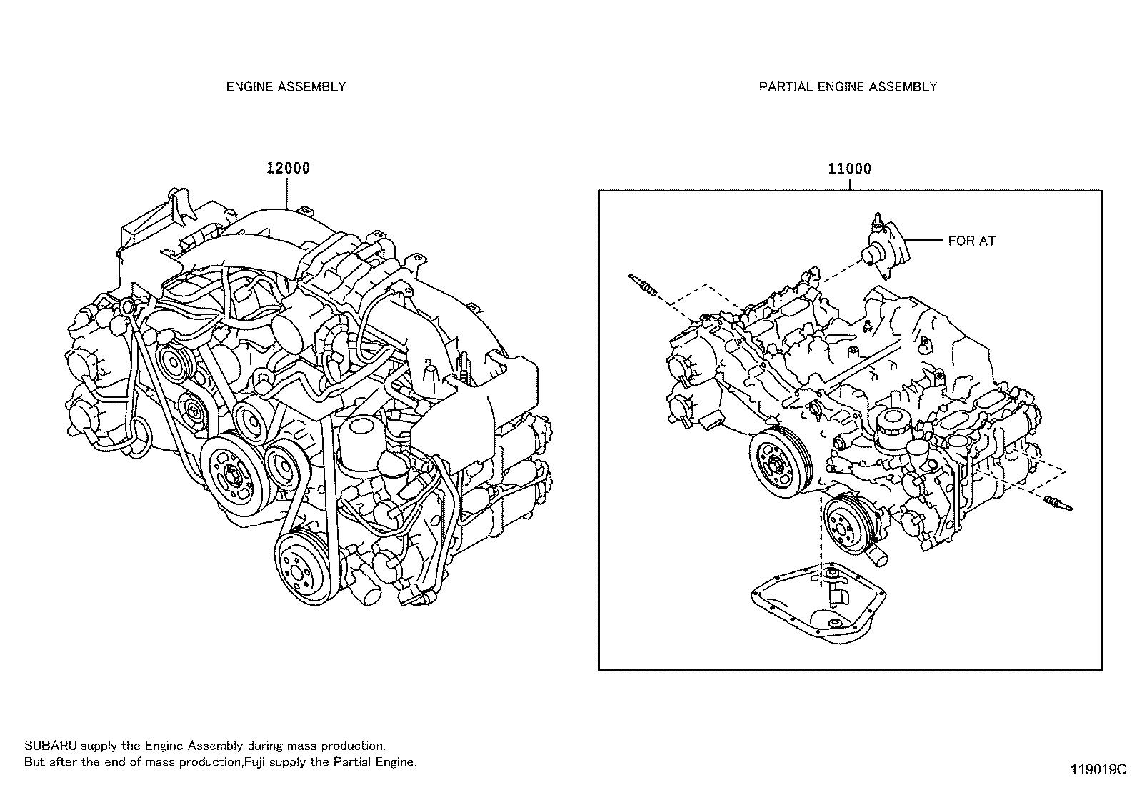 Scion Fr S Engine Assembly Partial Components