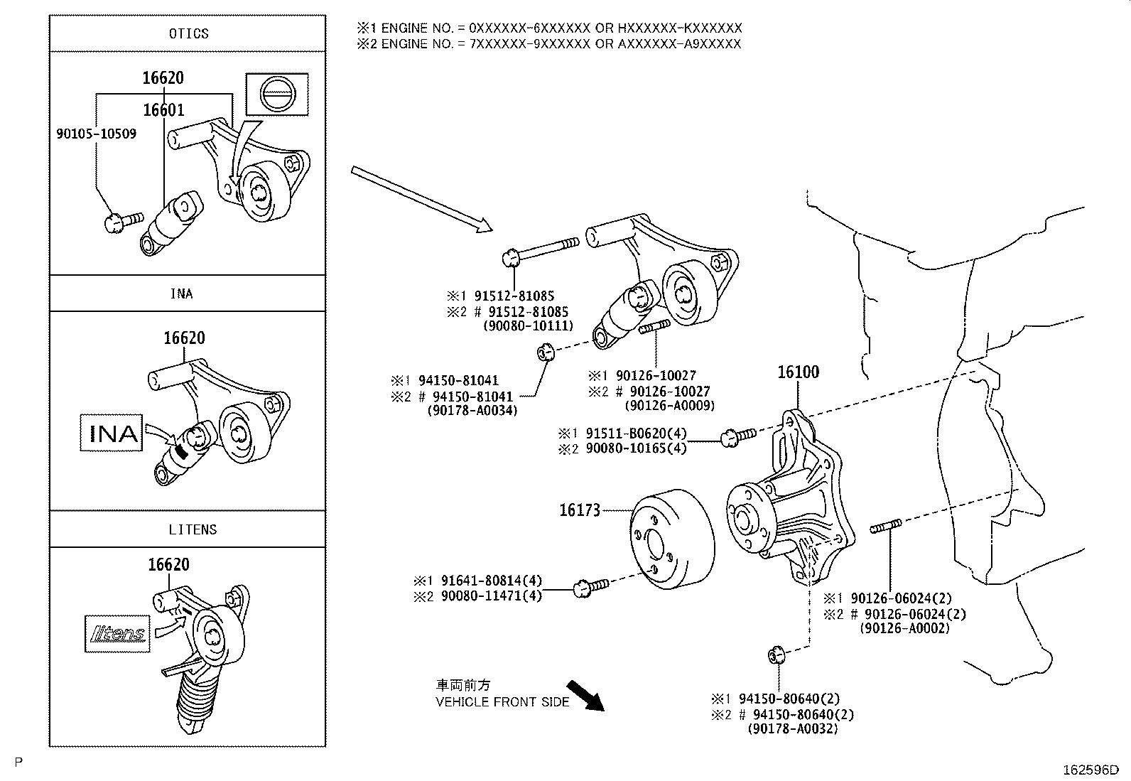 Toyota Camry Accessory Drive Belt Tensioner