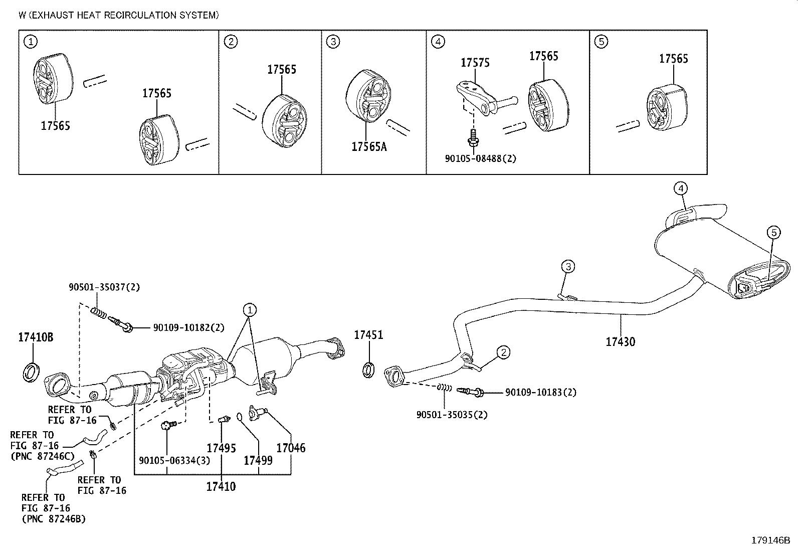 Toyota Prius Actuator Exhaust Pipe Gas Control