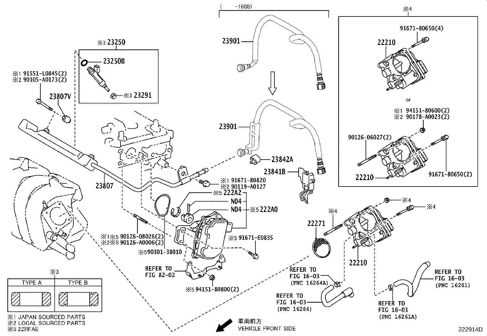 Toyota Corolla Injector Assembly Fuel System Injection