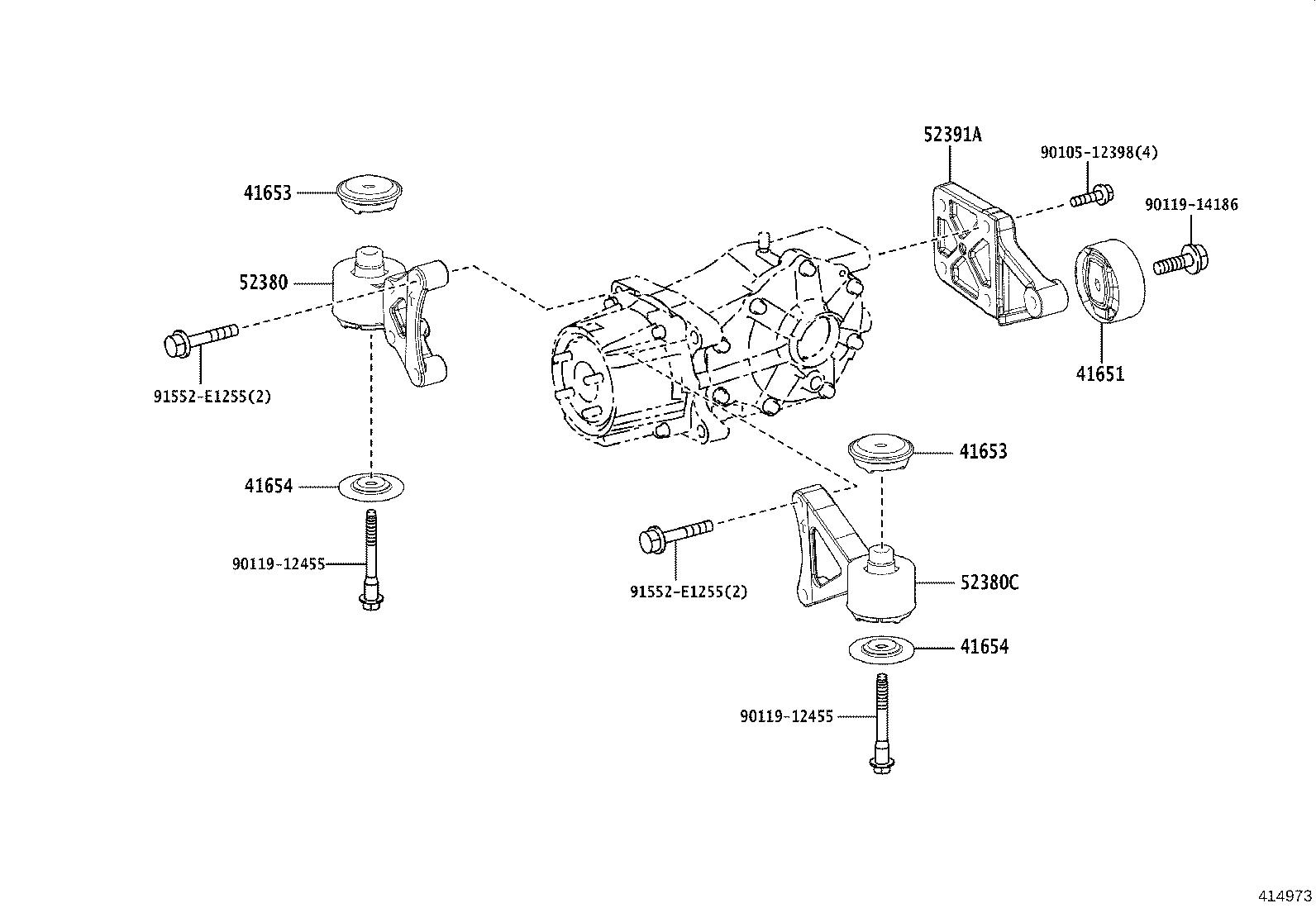 Toyota Rav4 Coupling Assembly Transmission Differential