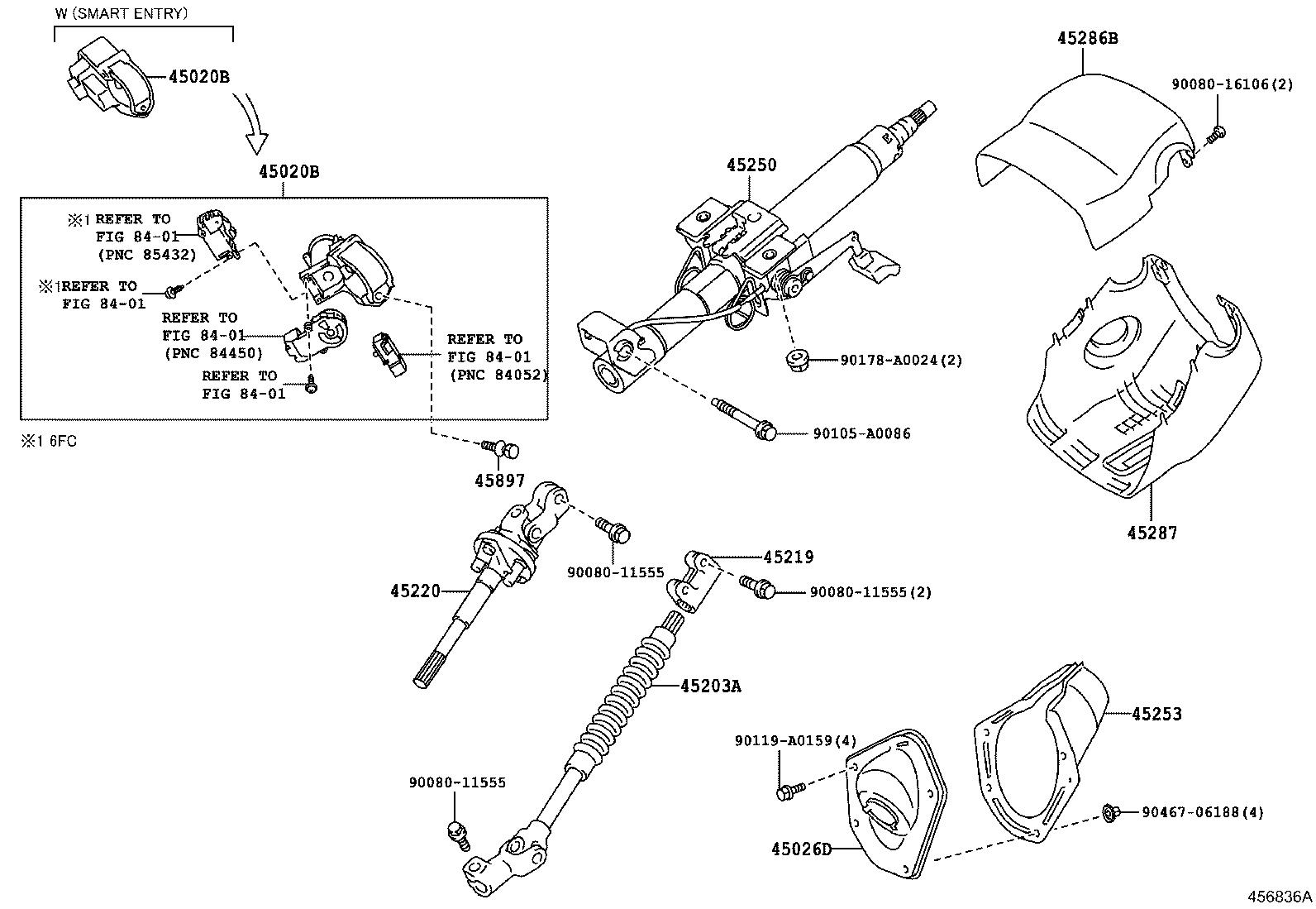 Toyota Tundra Cable Tilt Steering Support Bond Limd