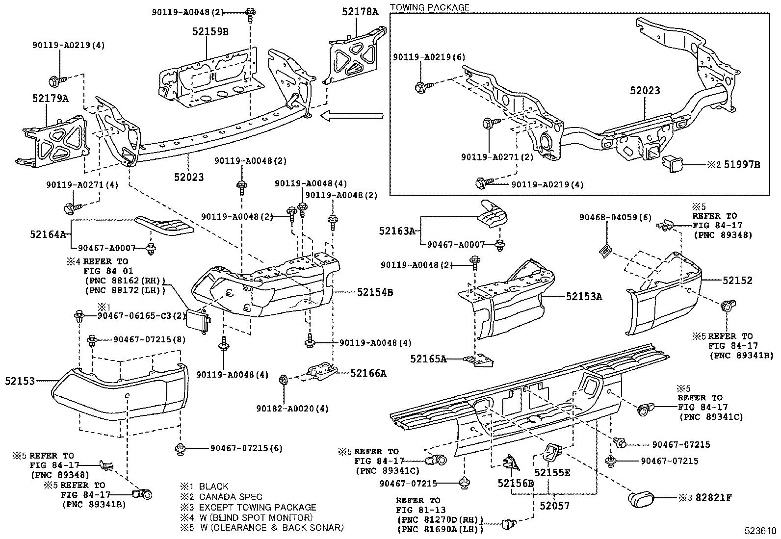 Toyota Tundra Reinforcement Sub Assembly Rear Bumper