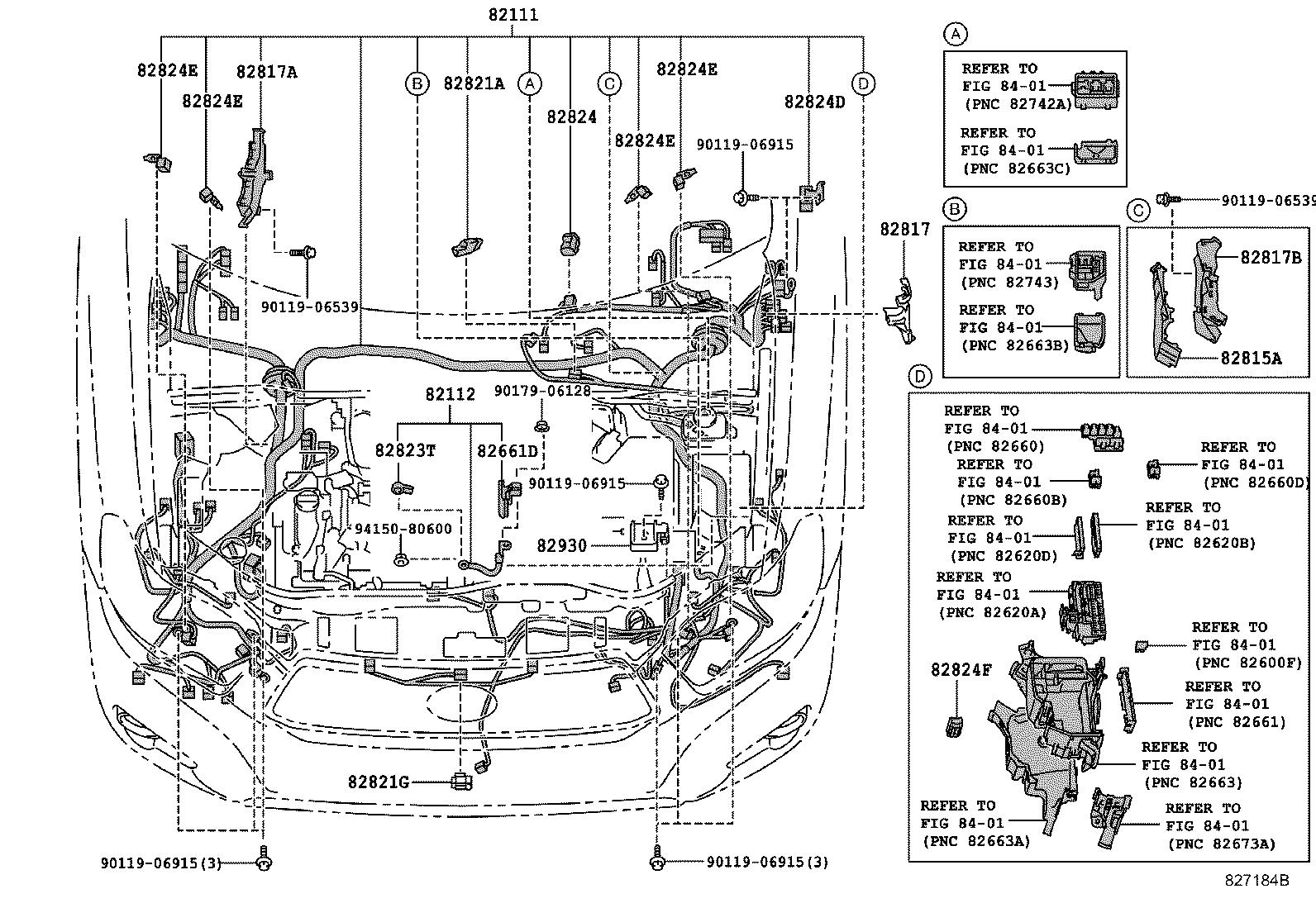 Toyota Sequoia Connector Wiring Harness