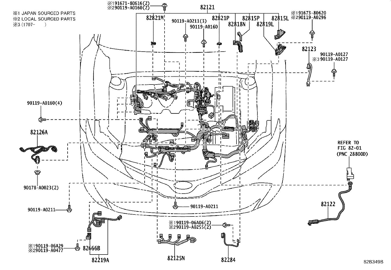 Toyota Camry Cover Connector Wiring Electrical Clamp