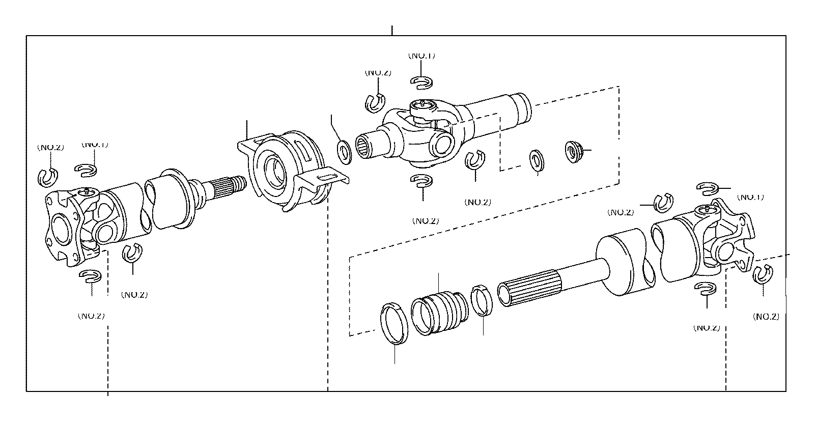 Toyota Tacoma Drive Shaft Center Support Bearing