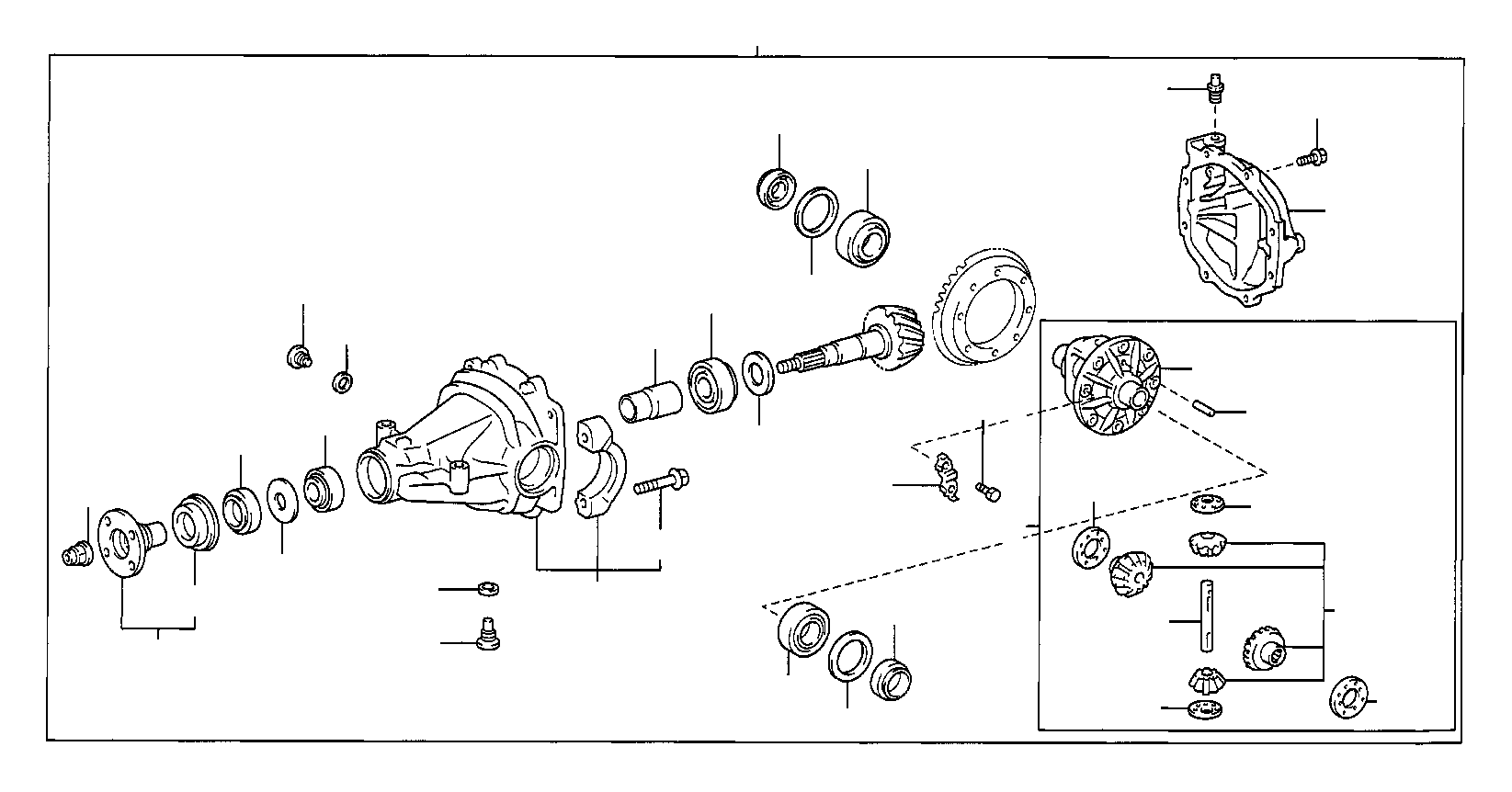 Toyota Highlander Carrier Assembly Differential