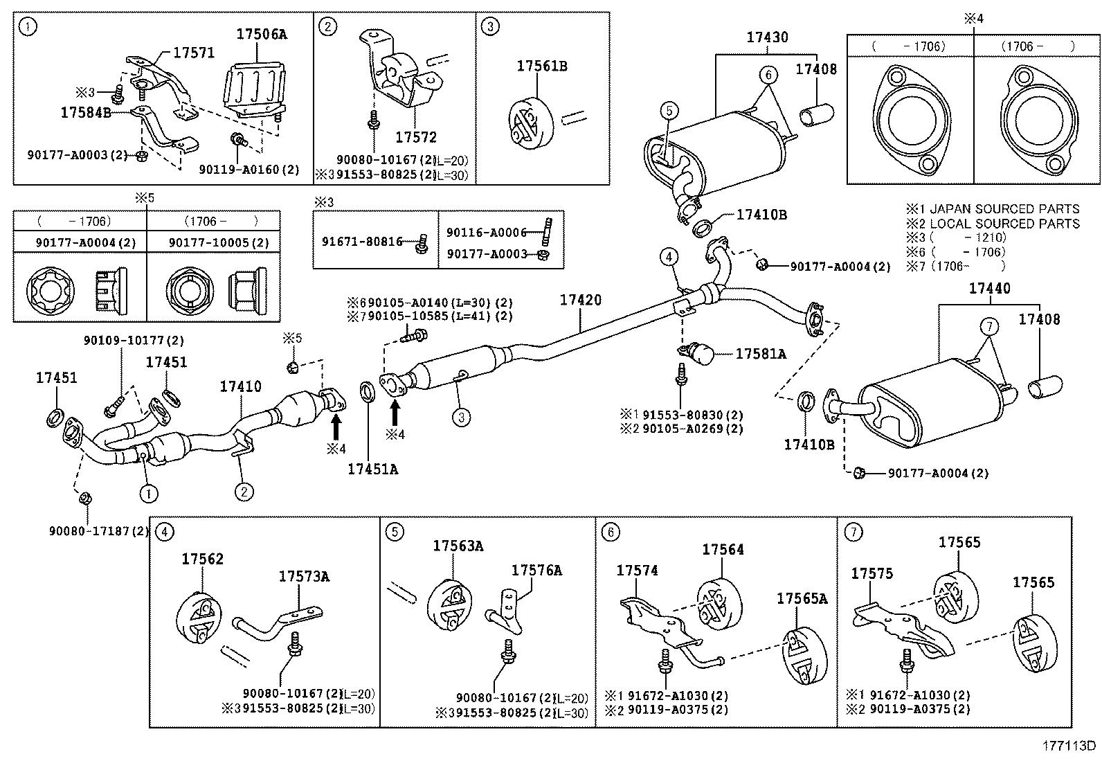 Toyota Camry Exhaust System Hanger Bracket Exhaust Pipe