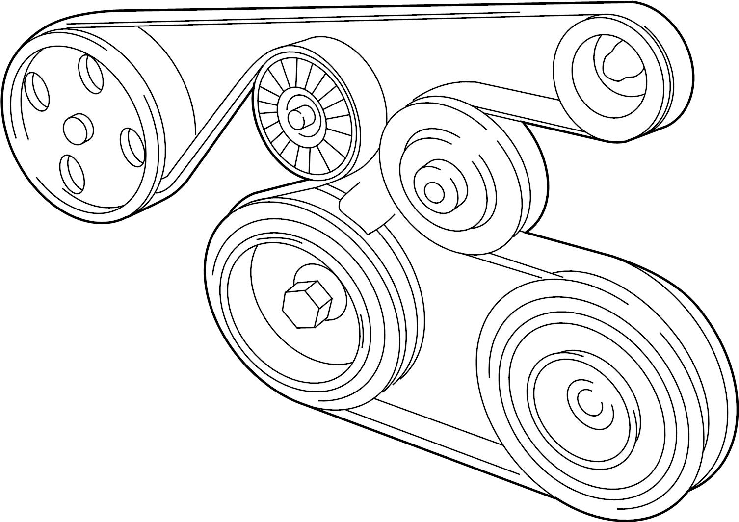 Toyota Matrix Serpentine Belt Belts Drive Pulleys