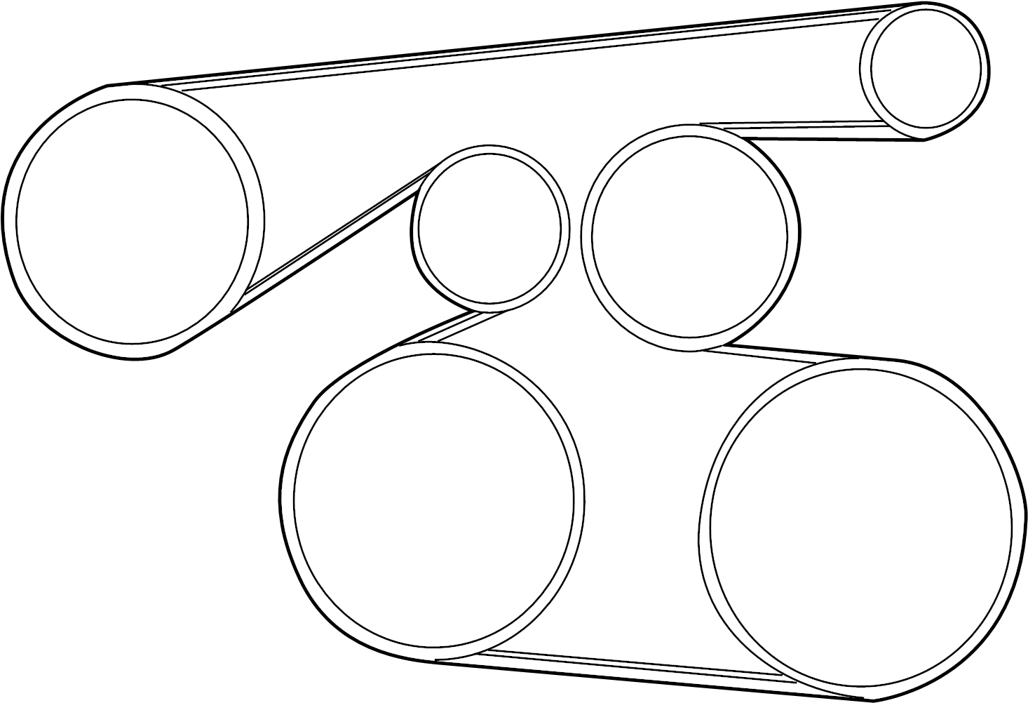Toyota Camry Serpentine Belt Belts Drive Pulleys