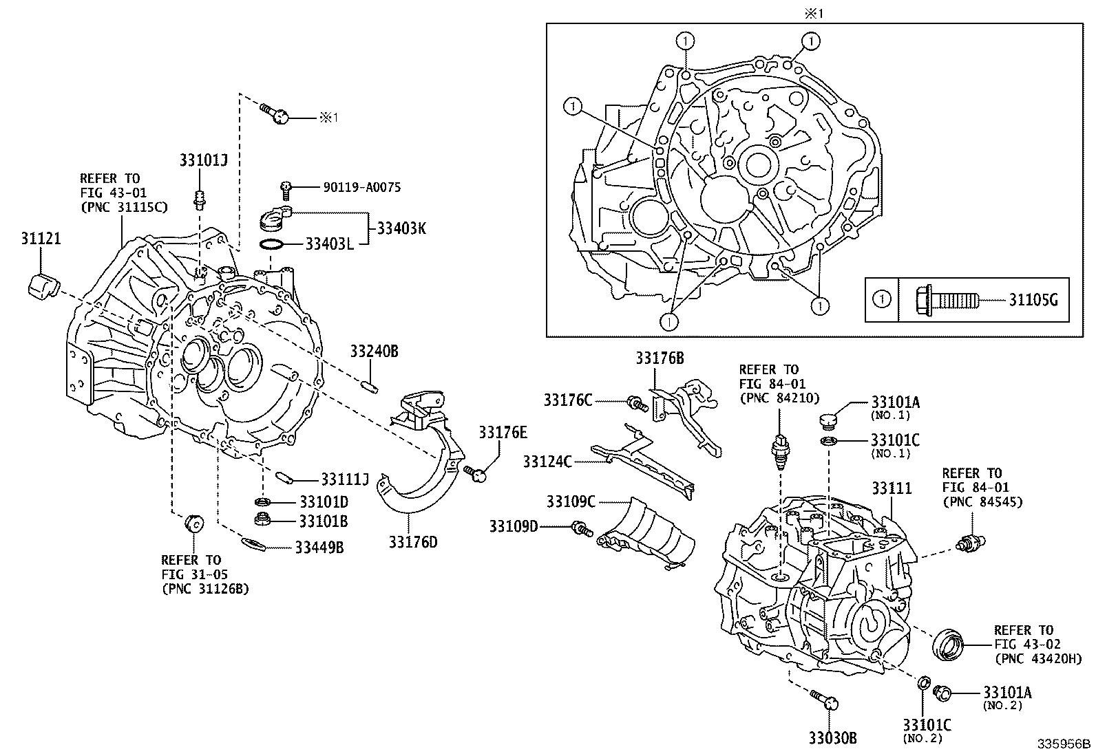 Toyota Corolla Bolt For Transaxle Amp Engine Setting For