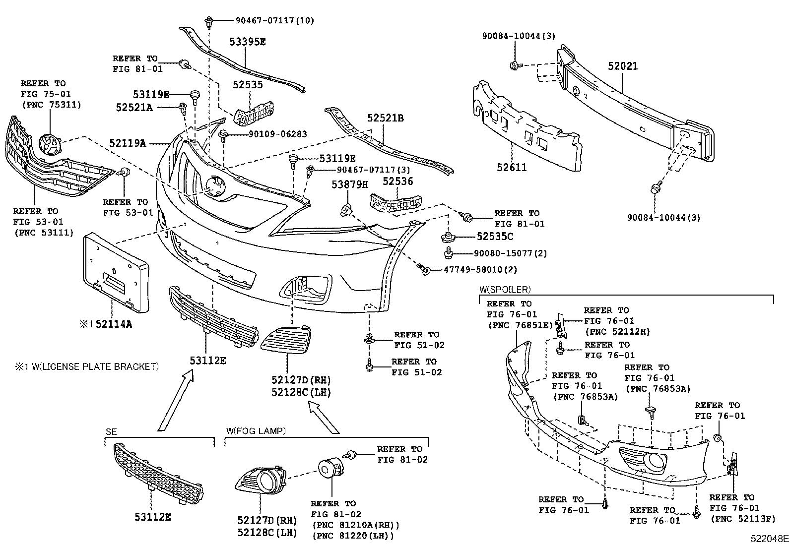 Toyota Camry Reinforcement Sub Assembly Front Bumper