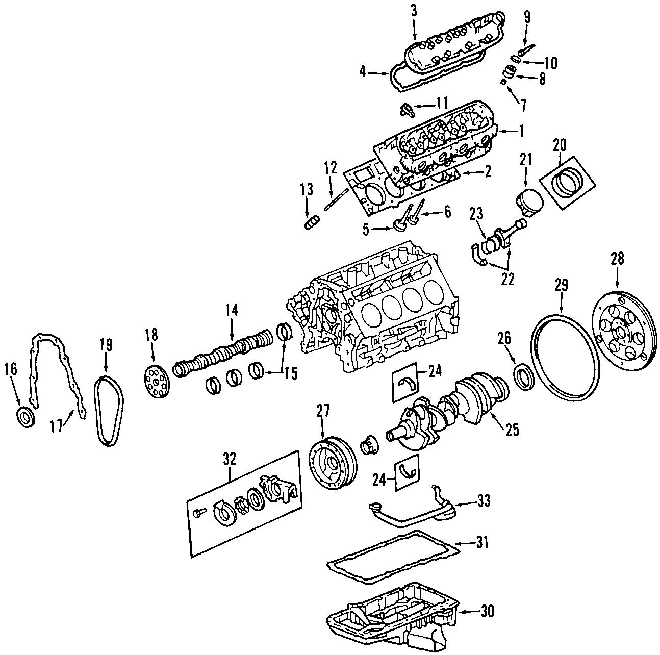 Chevrolet Corvette Engine Valve Stem Oil Seal