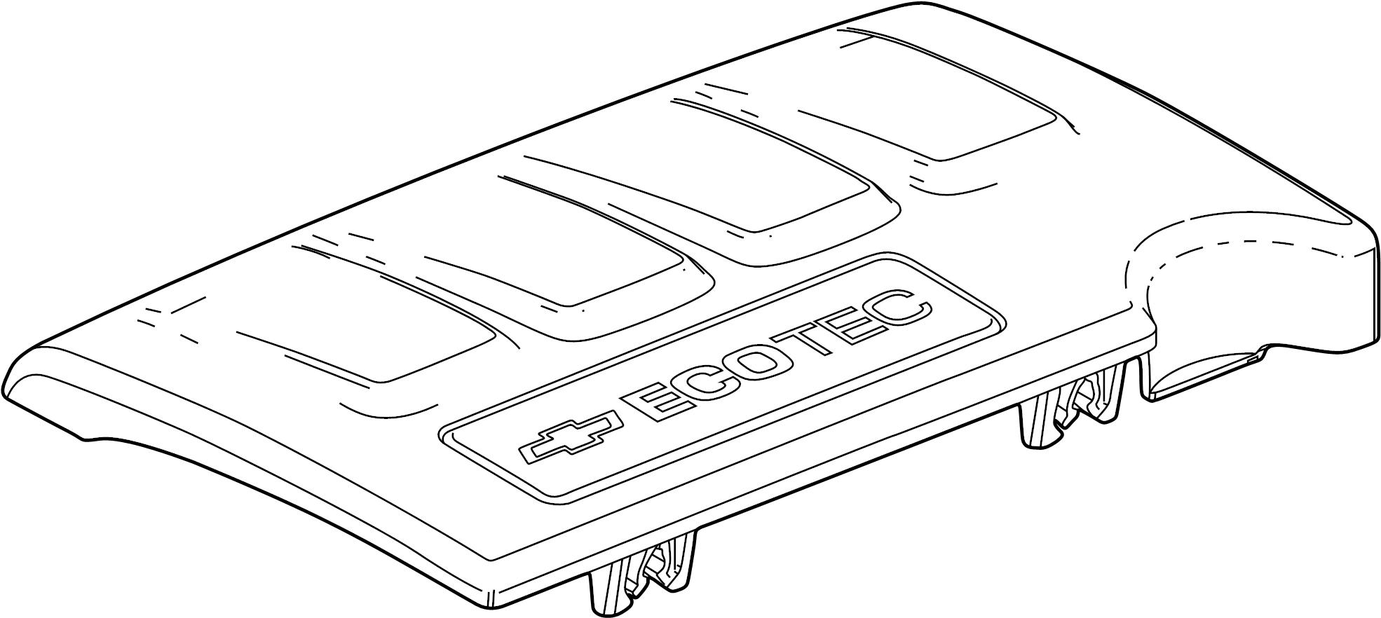 Chevrolet Sonic Emblem Engine Cover 1 4 Liter Turbo