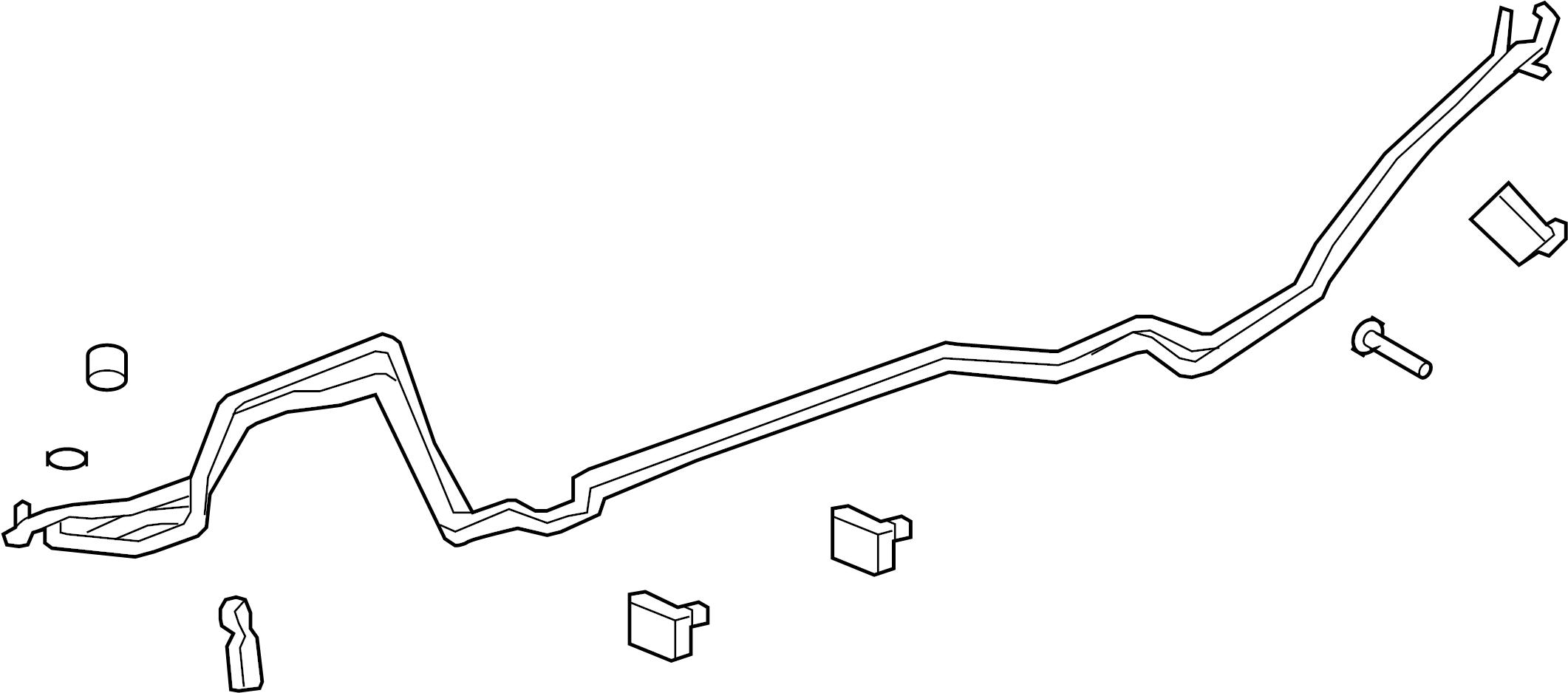 Gmc Acadia Hose Tube Rear
