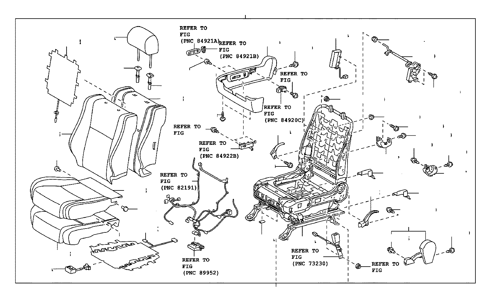 Toyota Camry Headrest Guide Front