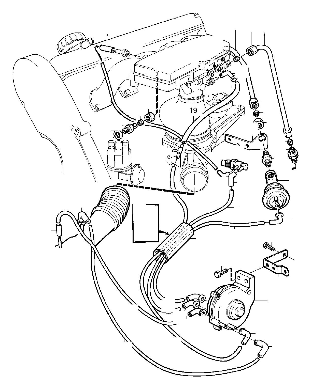 Volvo 240 Vacuum Booster Recirculation Gas Exhaust