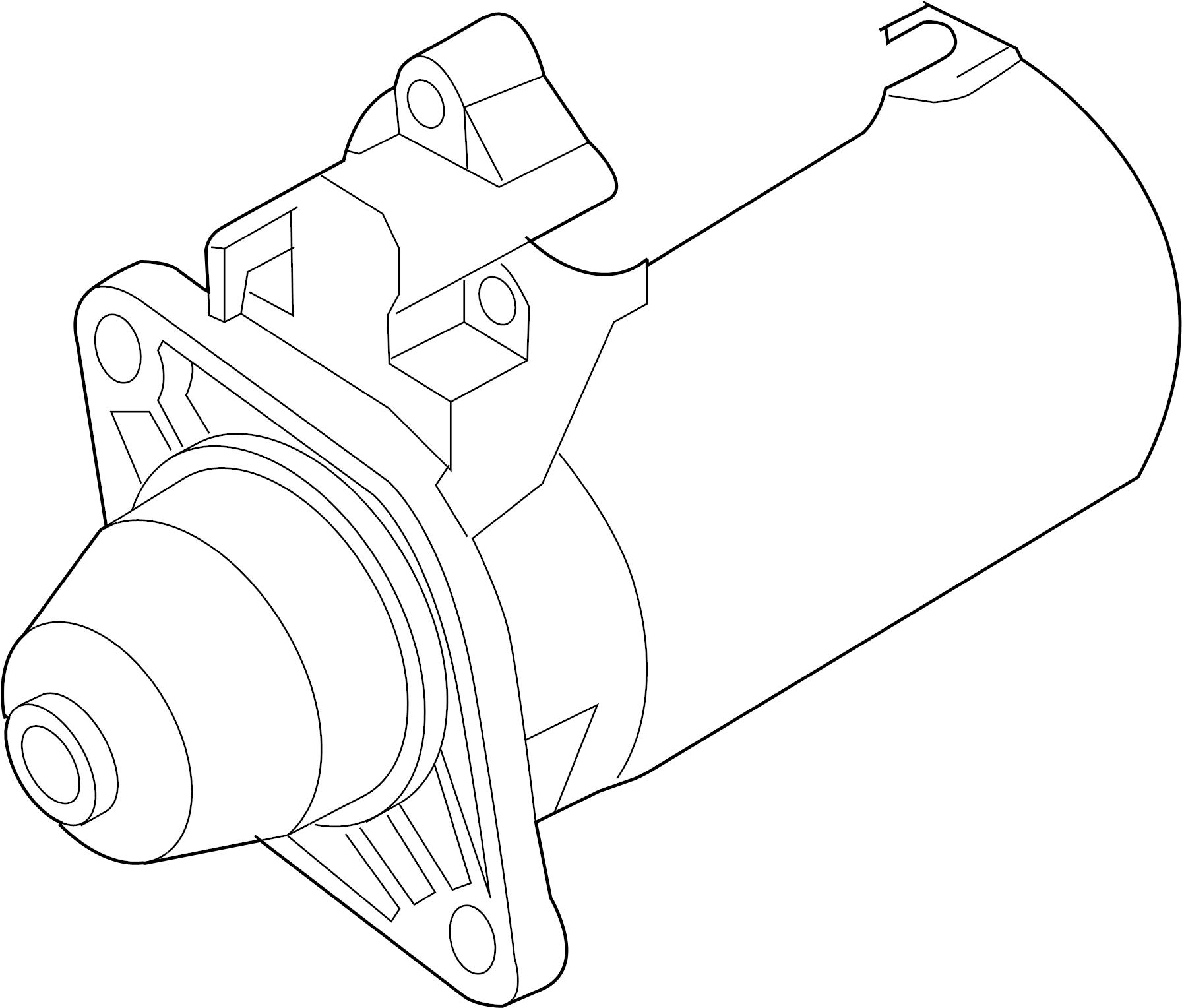 Volkswagen Touareg Starter Motor 1 7 Kw From 11