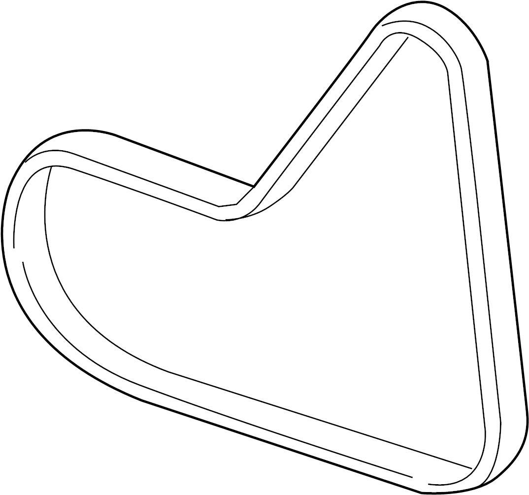 Volkswagen Doublebelt Serpentine Belt Liter