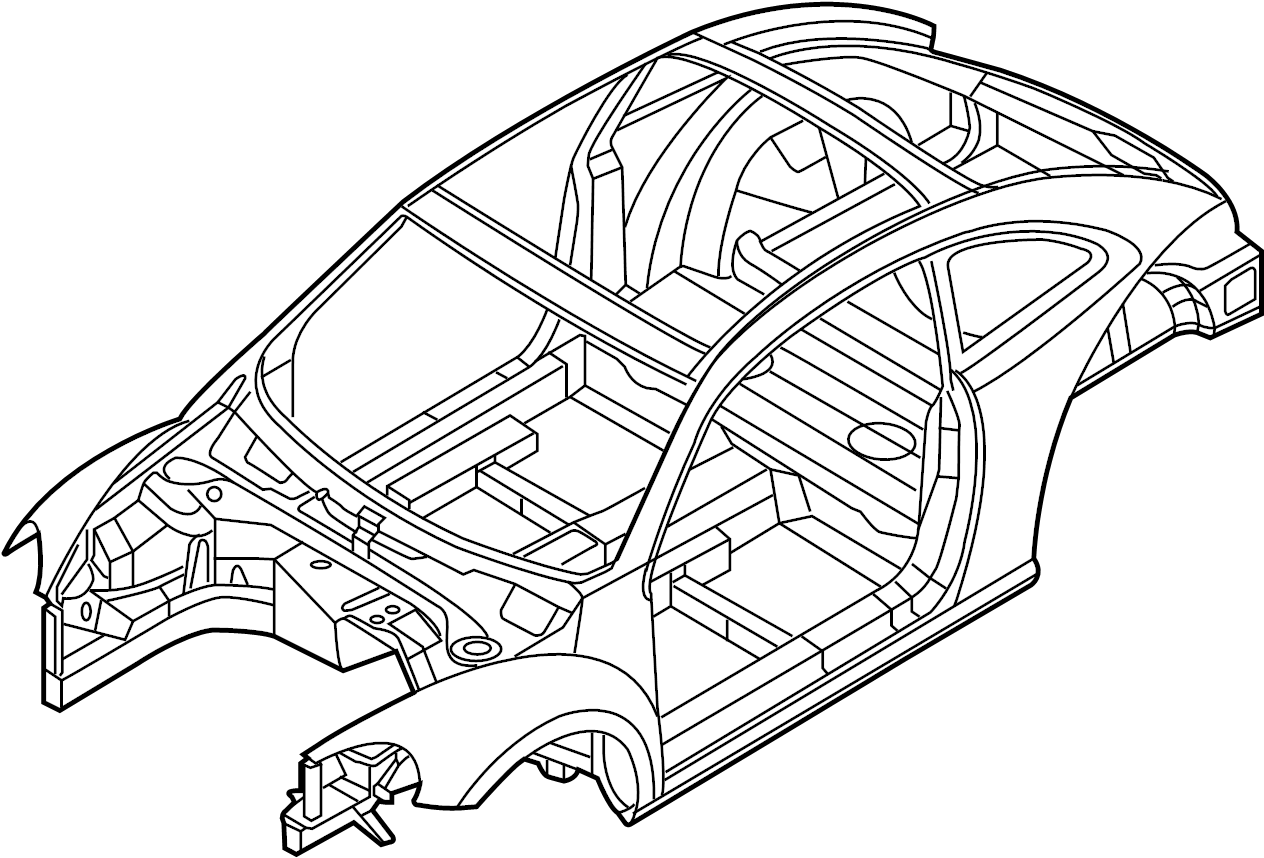 Volkswagen Beetle Vehicle Body Shell Coupe W Sunroof W