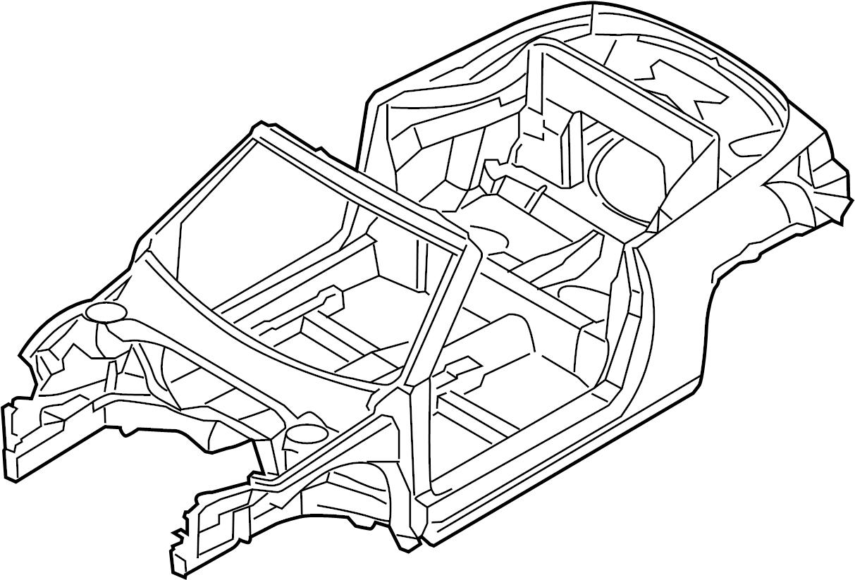 Volkswagen Beetle Convertible Vehicle Body Shell