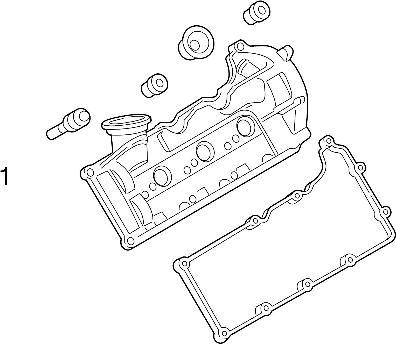 Volkswagen Touareg Engine Valve Cover Gasket