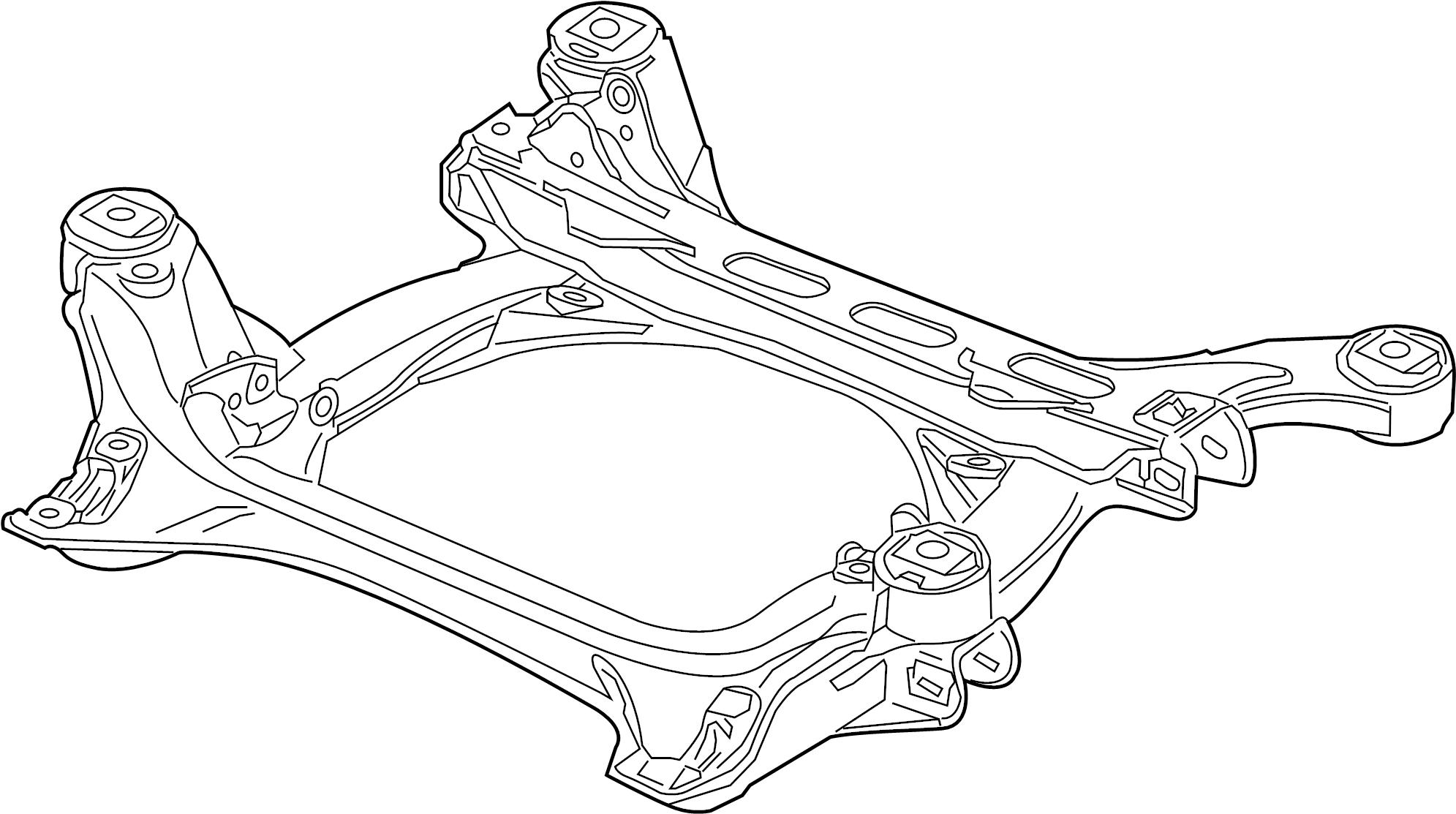 Volkswagen Touareg Suspension Subframe Crossmember