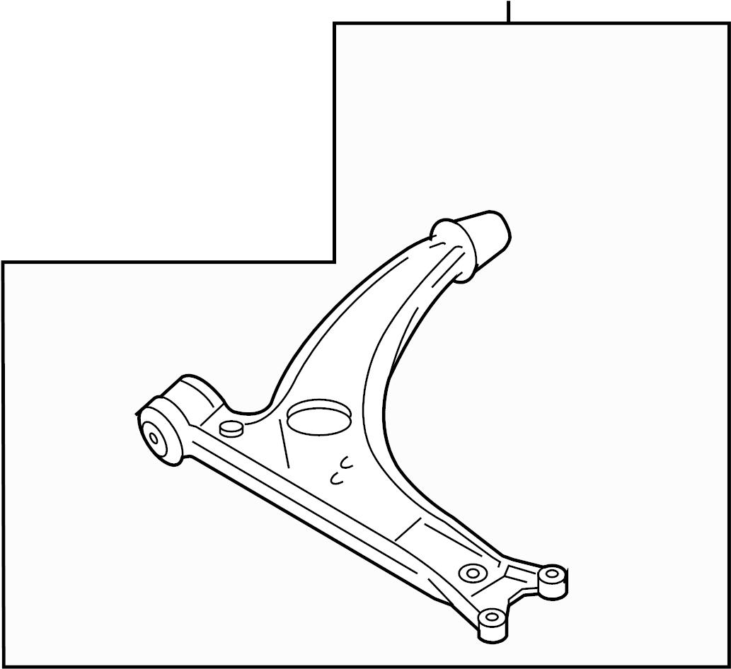 1999 Volkswagen Passat Control Arm Front Suspension