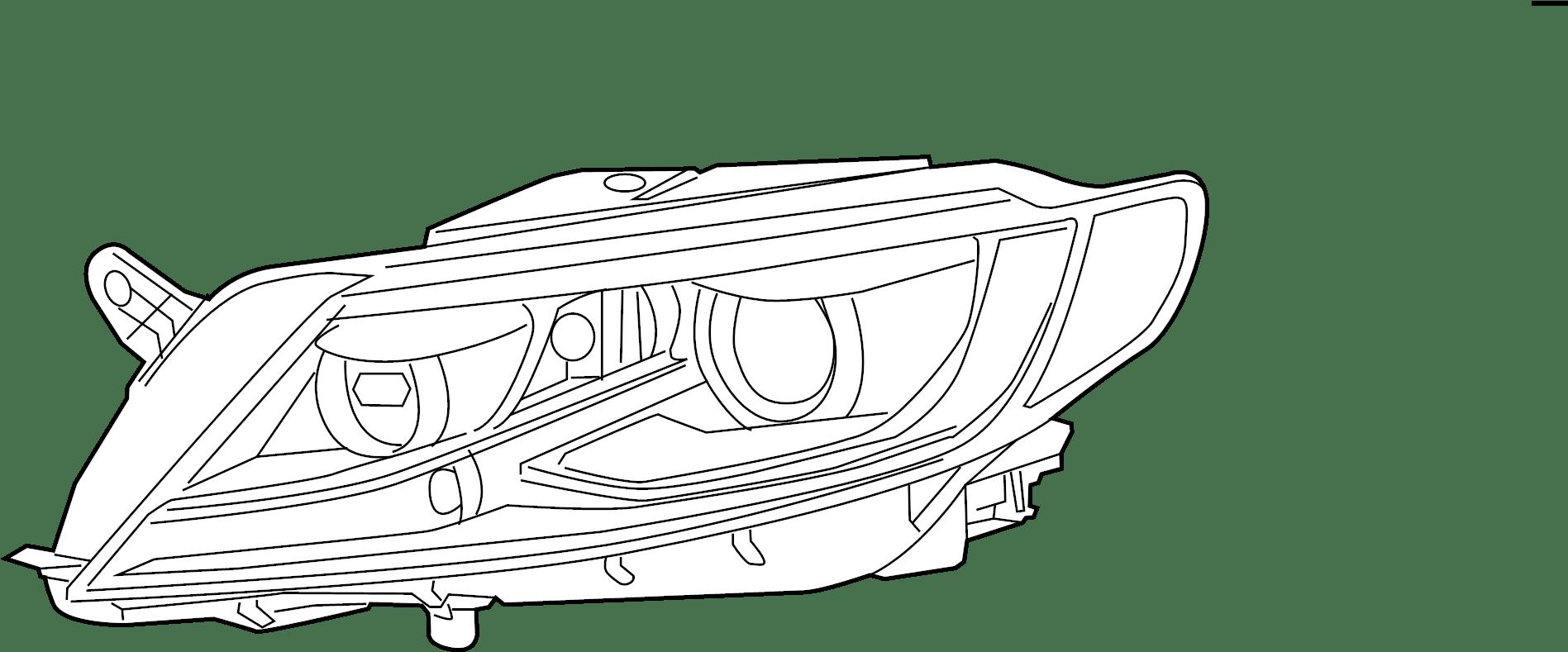 Volkswagen Cc Sport Sedan 2 0l A T Fwd Headlight