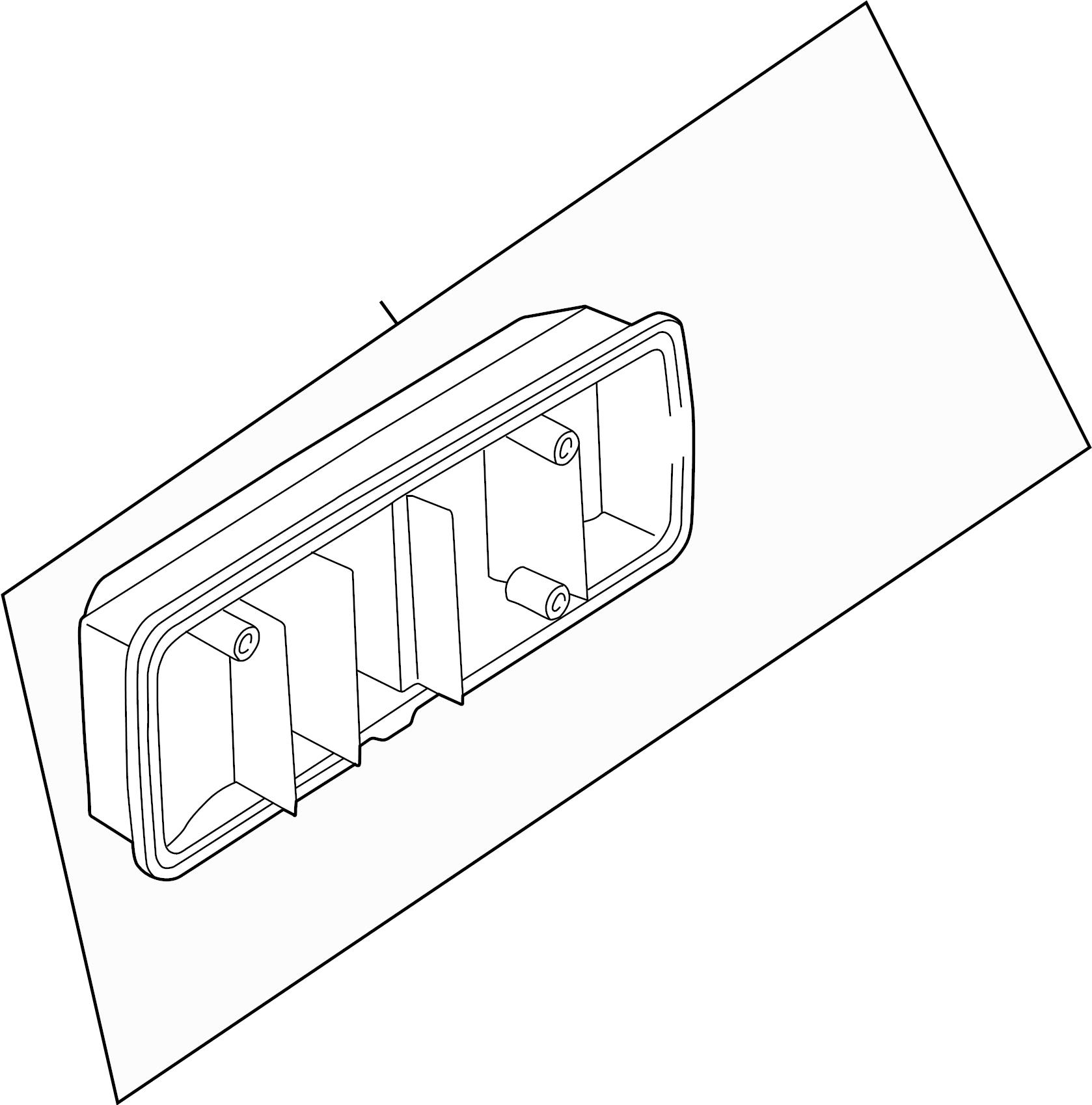Volkswagen Eurovan Tail Light Assembly Rear Left
