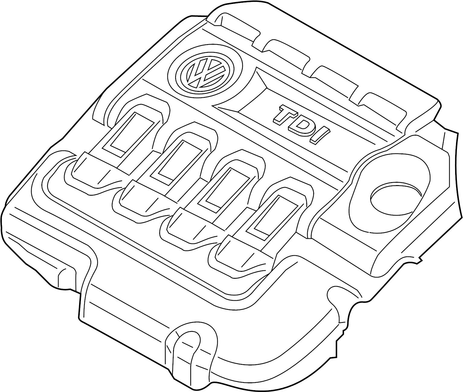 Volkswagen Beetle Convertible Engine Cover 2 0 Liter