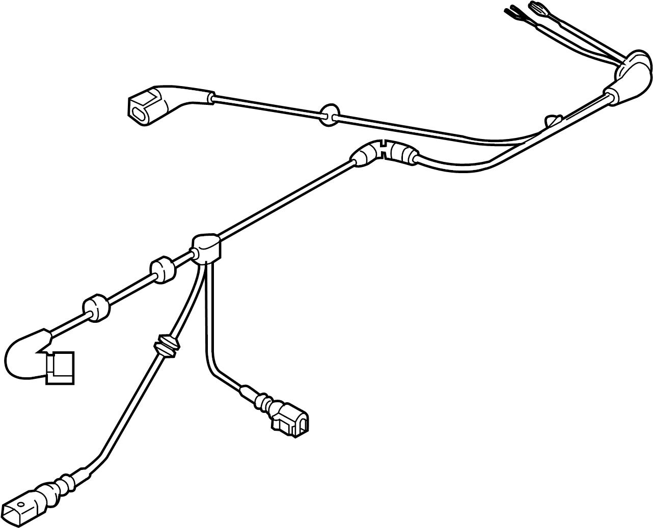 Volkswagen Gti Harness Sensor Abs System Main