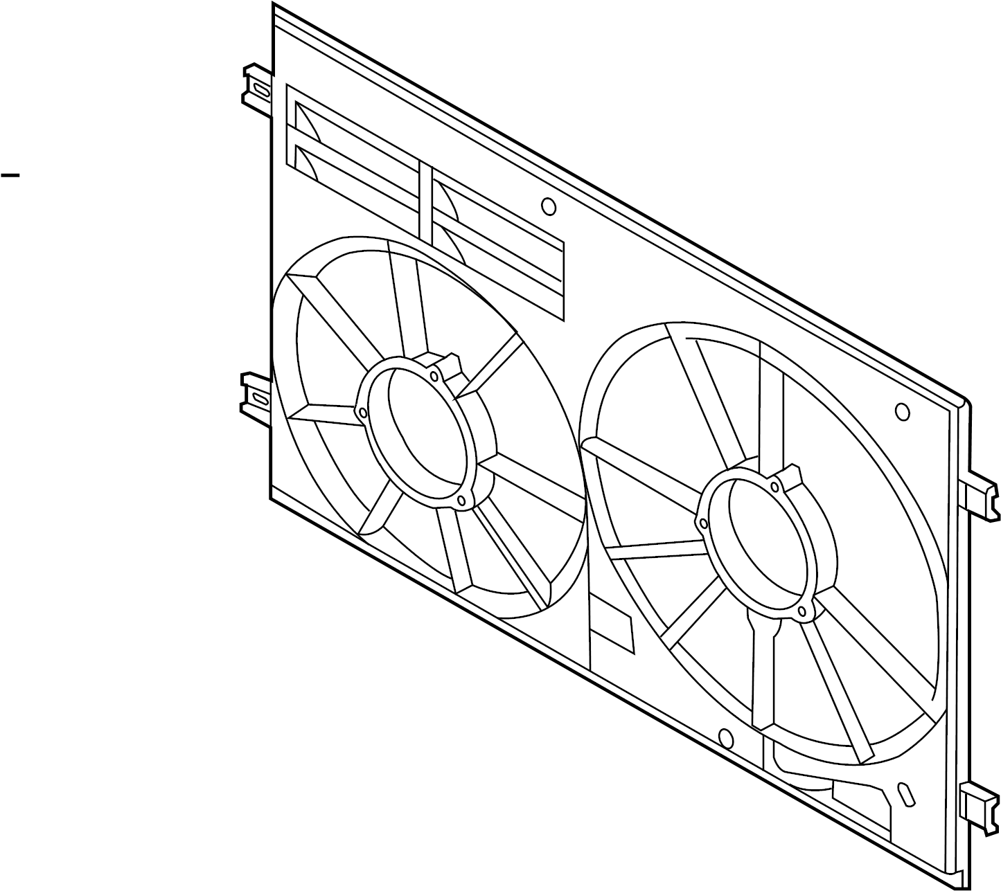 Volkswagen Golf R Shroud Fan Cowl Engine Cooling Front Duct Audi Volkswagen