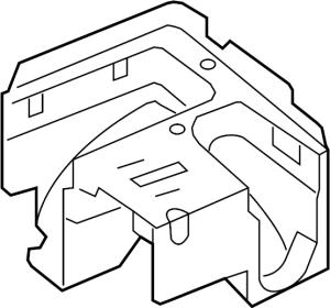 1K0907361C  Fuse and Relay Center Bracket Fuse Box Bracket Mount Bracket  Genuine Volkswagen